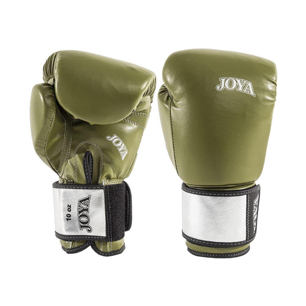 Joya Kickboxing Glove - Top One - Pu - Green with Silver Metallic Leather