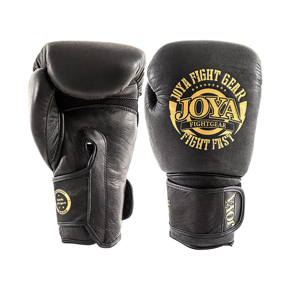 "Kick-Boxing Gloves JOYA ""Fight Fast"" (Leather) Black and Gold"