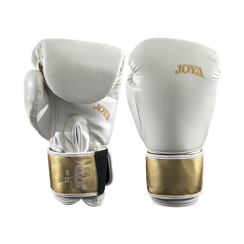 Joya kickboxing Glove Top One Pu White With Metallic Gold