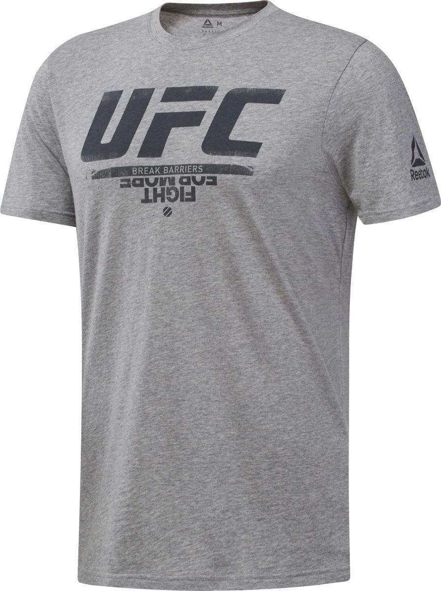 REEBOK UFC FAN GEAR LOGO TEE GREY