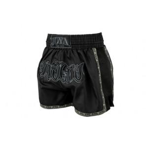 JOYA Kick-Boxing Short Thai (Mesh +Ribbon) Faded Black