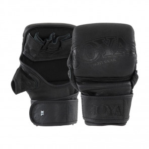 "Joya ""Fight Fast"" Leather MMA Match Grip Faded Black"