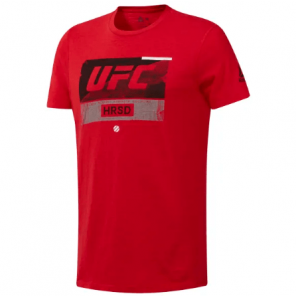 Reebok UFC FIGHT WEEK TEE RED/BLK
