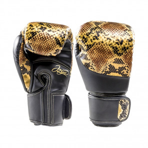Joya Thailand Kickboxing Glove - Snake - Gold Black - Microfiber Synthetic Leather