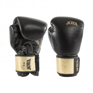 Joya Kickboxing Glove - Top One - Pu - Black With Gold Metallic Leather