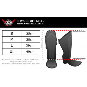"Joya ""SKINTEX/FIGHTFAST Black"" Shinguard (Synthetic Leather) (FF0097)"