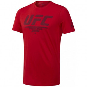 REEBOK UFC FAN GEAR LOGO TEE RED/BLACK
