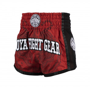 Joya Sak Yant Tiger Muay Thai Short - Red