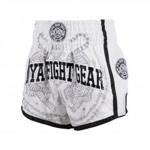 Joya Sak Yant Tiger Muay Thai Short - White