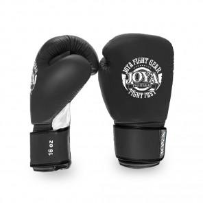 Joya Thailand Kickboxing Glove - Fight Fast - Leather - Black White