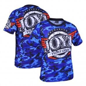 Joya T-shirt Camo Blauw