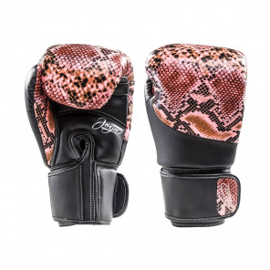 Joya Thailand Kickboxing Glove - Snake - Pink Black - Microfiber Synthetic Leather